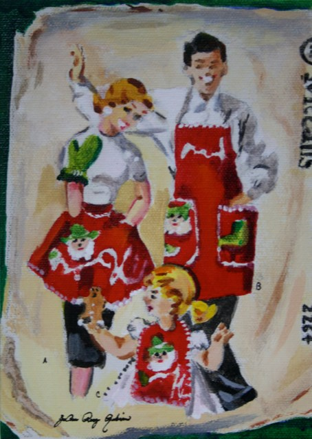 """Christmas Cookies"" original fine art by JoAnne Perez Robinson"