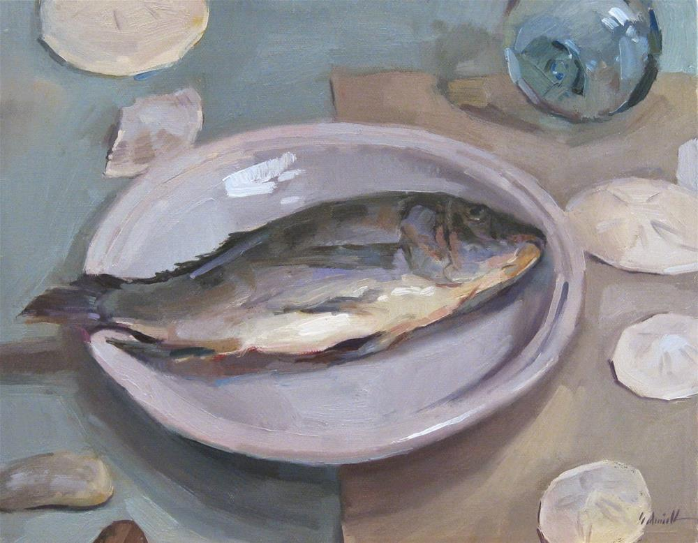 """I Planned on Painting Fish...."" original fine art by Sarah Sedwick"