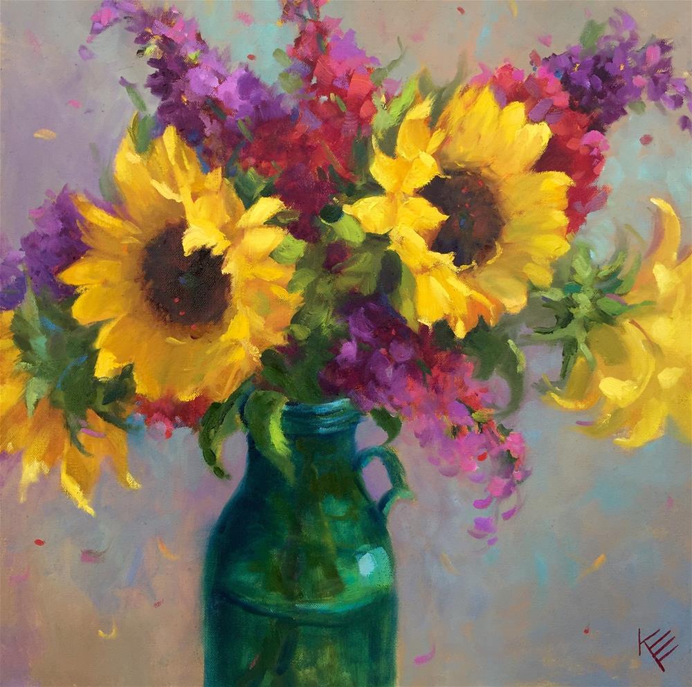 """Thankful"" original fine art by Krista Eaton"
