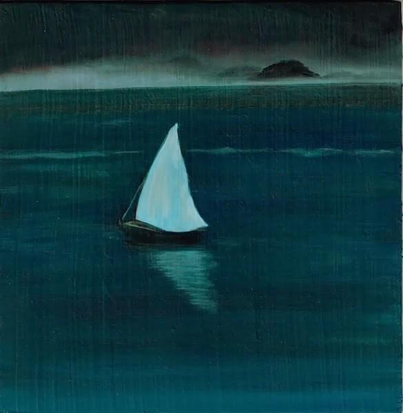 """""""Sail Away"""" original fine art by Karen Stitt"""
