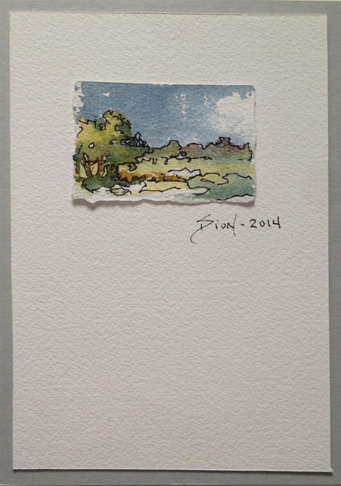 """Miniature Landscape #5"" original fine art by Sue Dion"