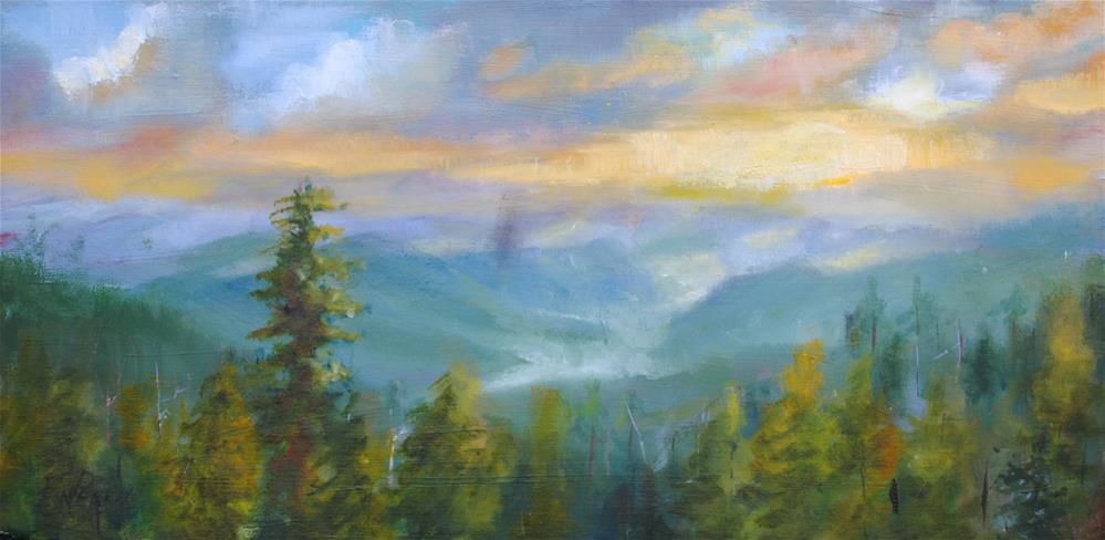 """Sunrise in the Smokies"" original fine art by Nan Perry"