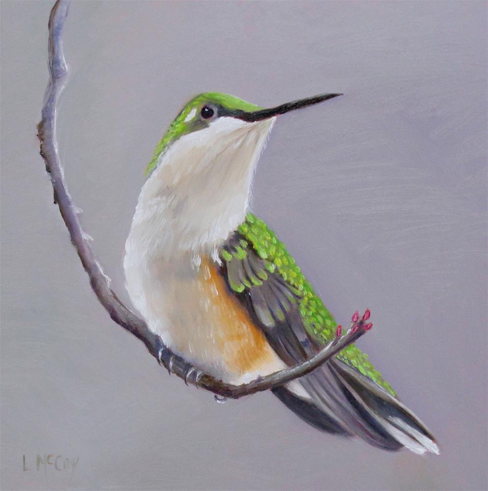 """Swing, Hummingbird by Linda McCoy"" original fine art by Linda McCoy"
