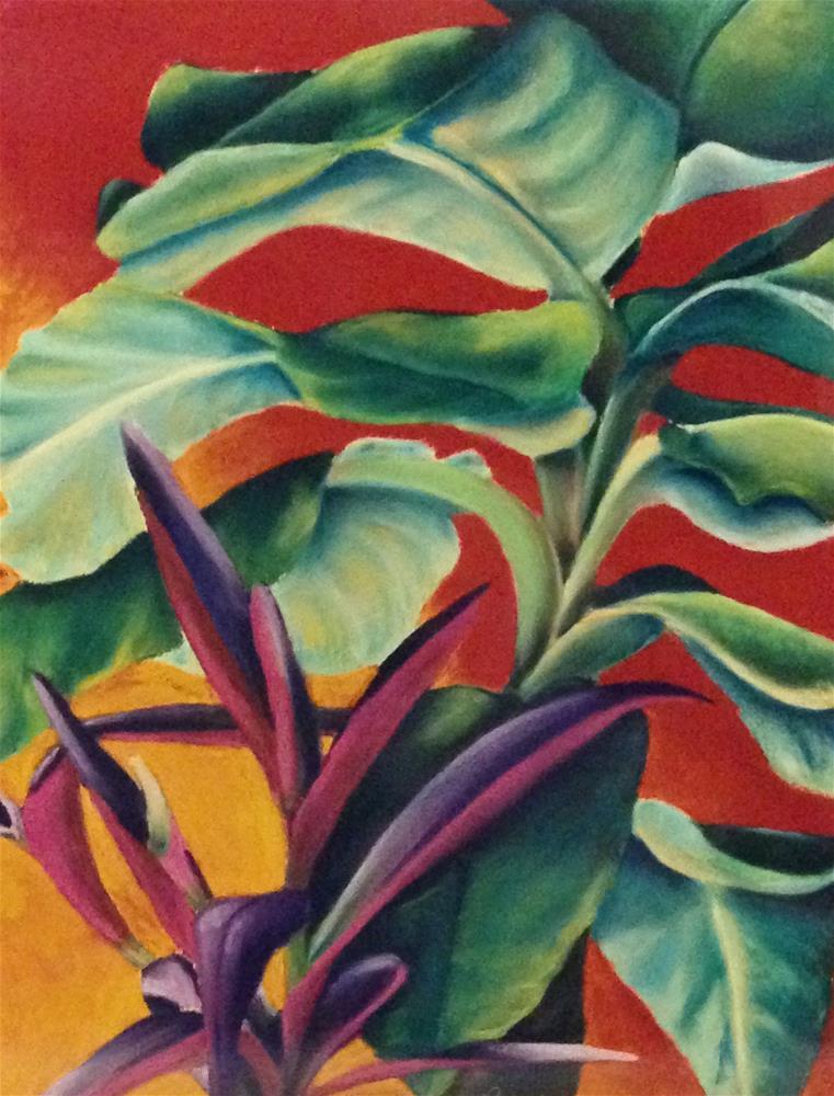 """""""Houseplants"""" original fine art by Karen Collins"""