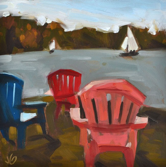 """Chair Trio"" original fine art by Jessica Green"