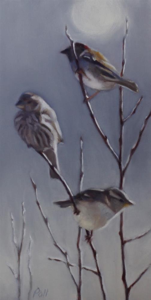 """""""Birds in Morning Light"""" original fine art by Pamela Poll"""