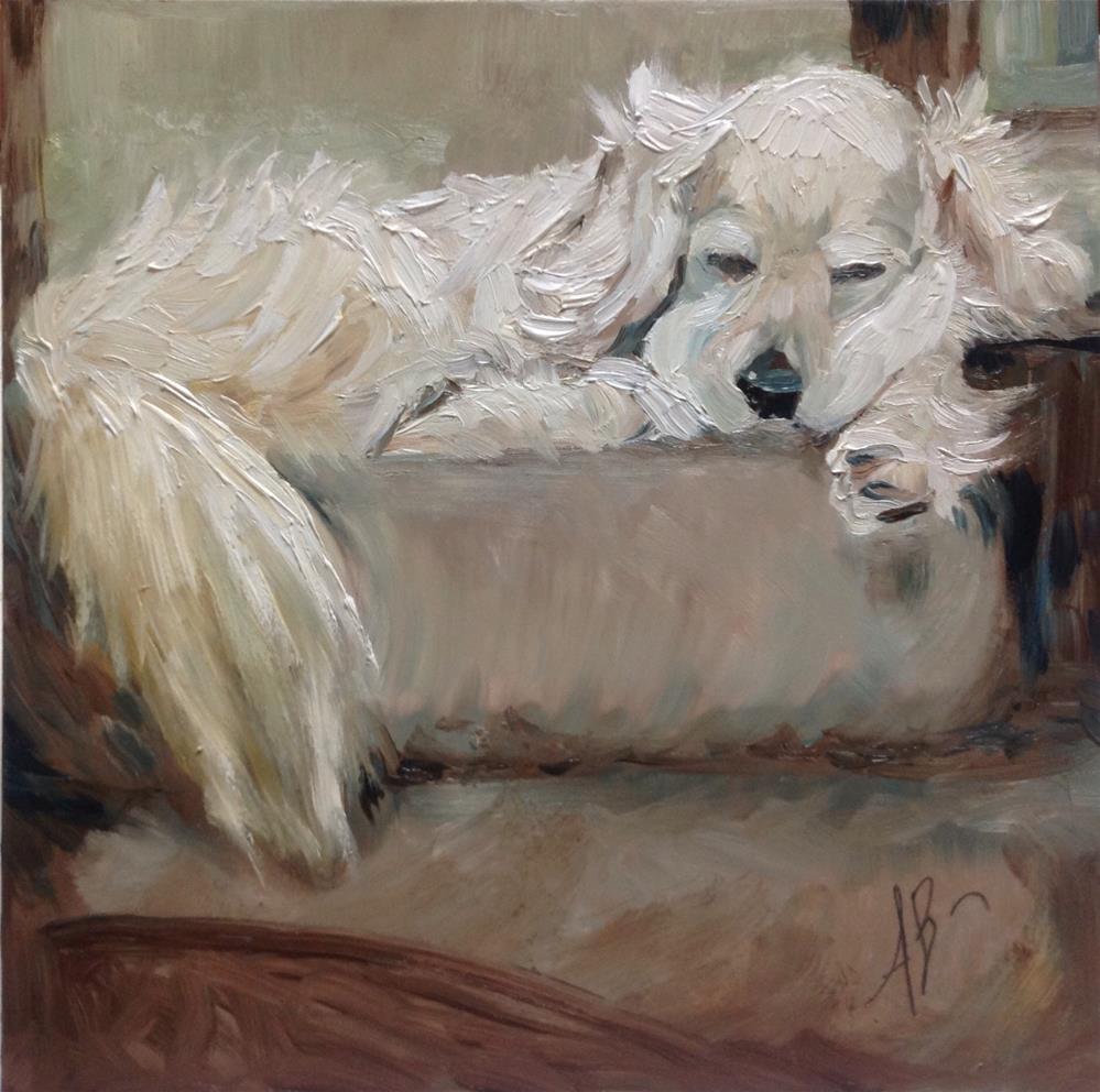 """A Golden's Nap"" original fine art by Annette Balesteri"