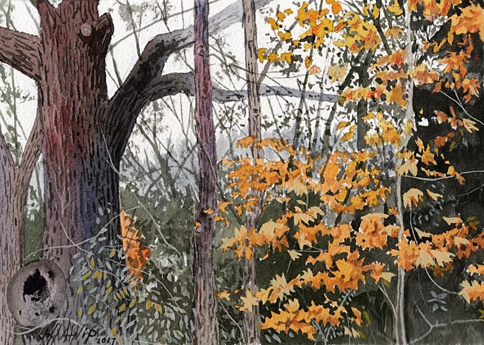 """Stopping By Woods"" original fine art by Jeff Atnip"