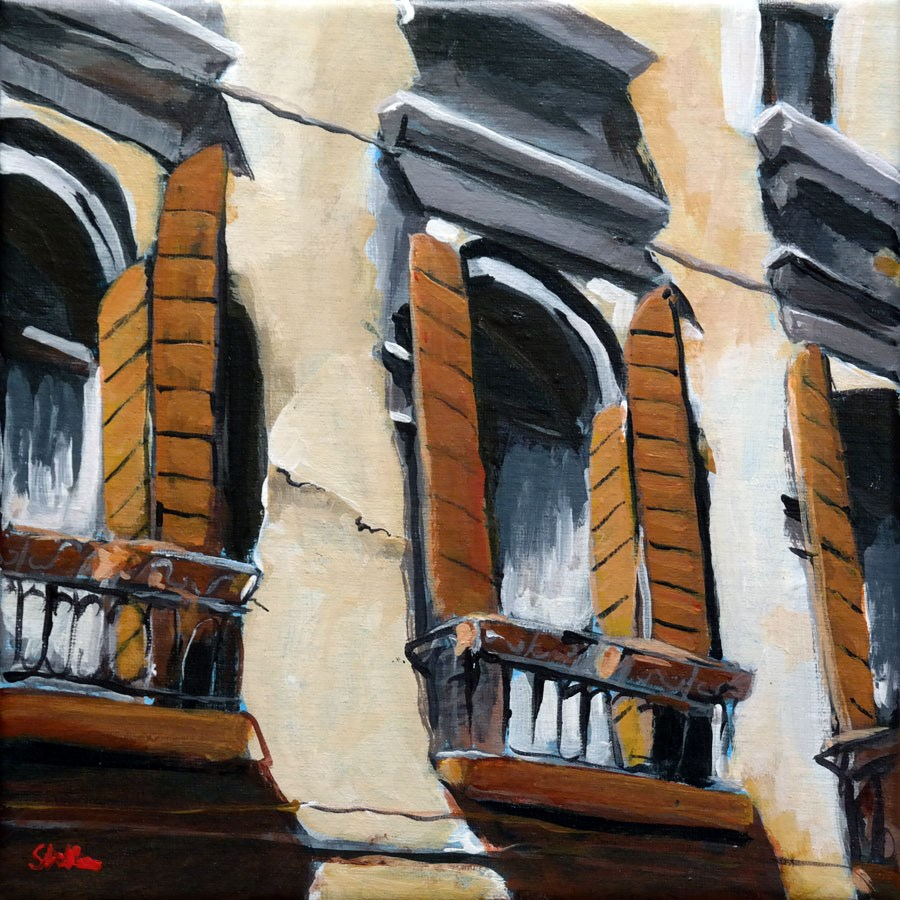 """1382 More Windows"" original fine art by Dietmar Stiller"