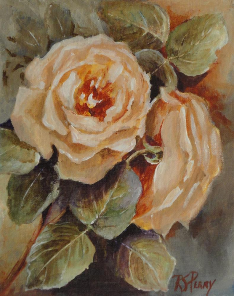 """Baroque Roses"" original fine art by R. S. Perry"
