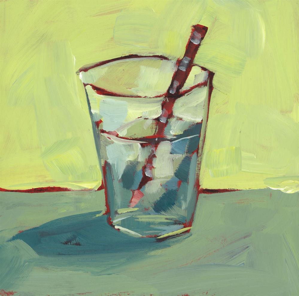 """1165: Summer Drink"" original fine art by Brian Miller"