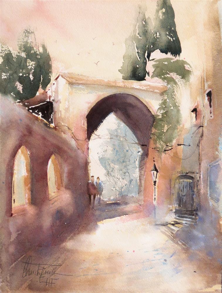 """Montefiorella, Tuscany"" original fine art by Christa Friedl"