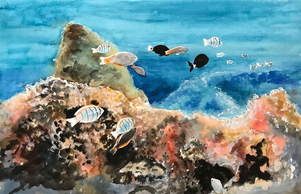 """Underwater Reef"" original fine art by Bunny Griffeth"