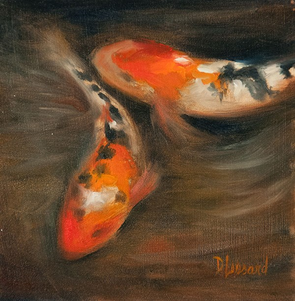 """Koi Fish #1408"" original fine art by Dee Lessard"