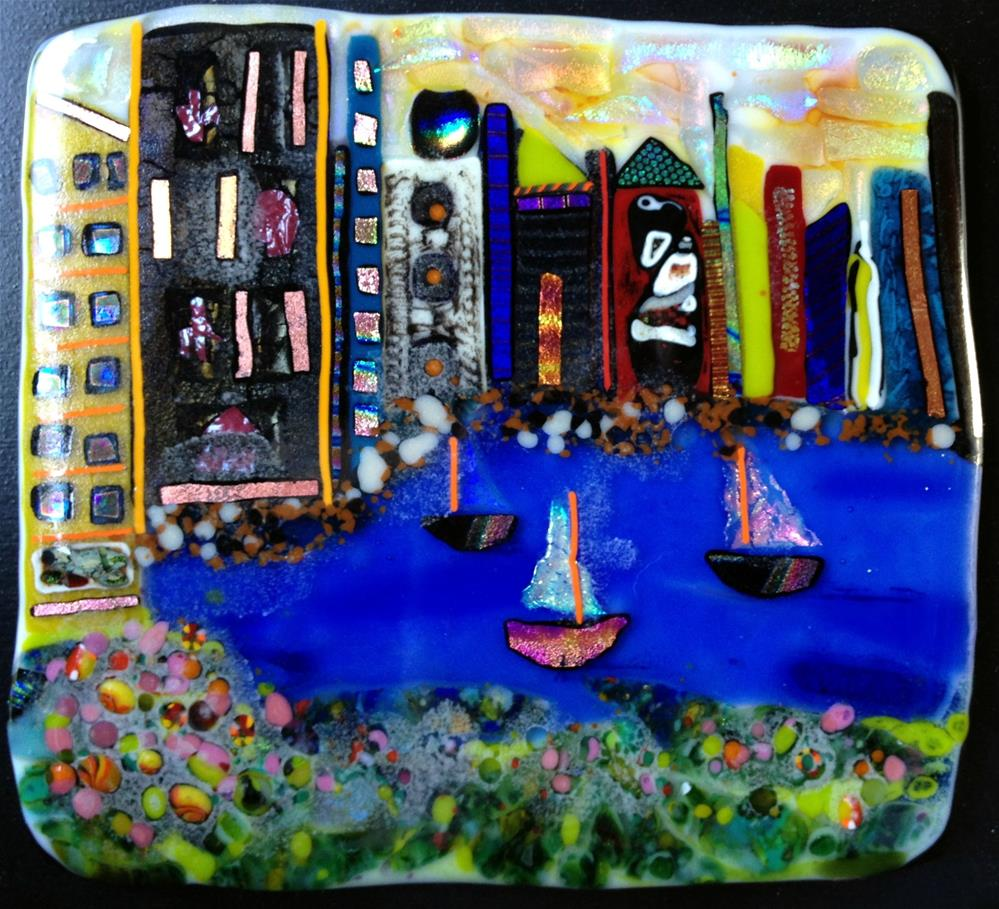"""Boston Harbor"" original fine art by Kristen Dukat"