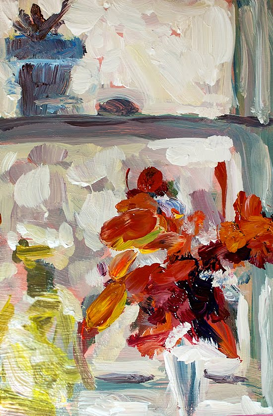 """Flower Box"" original fine art by J. Farnsworth"