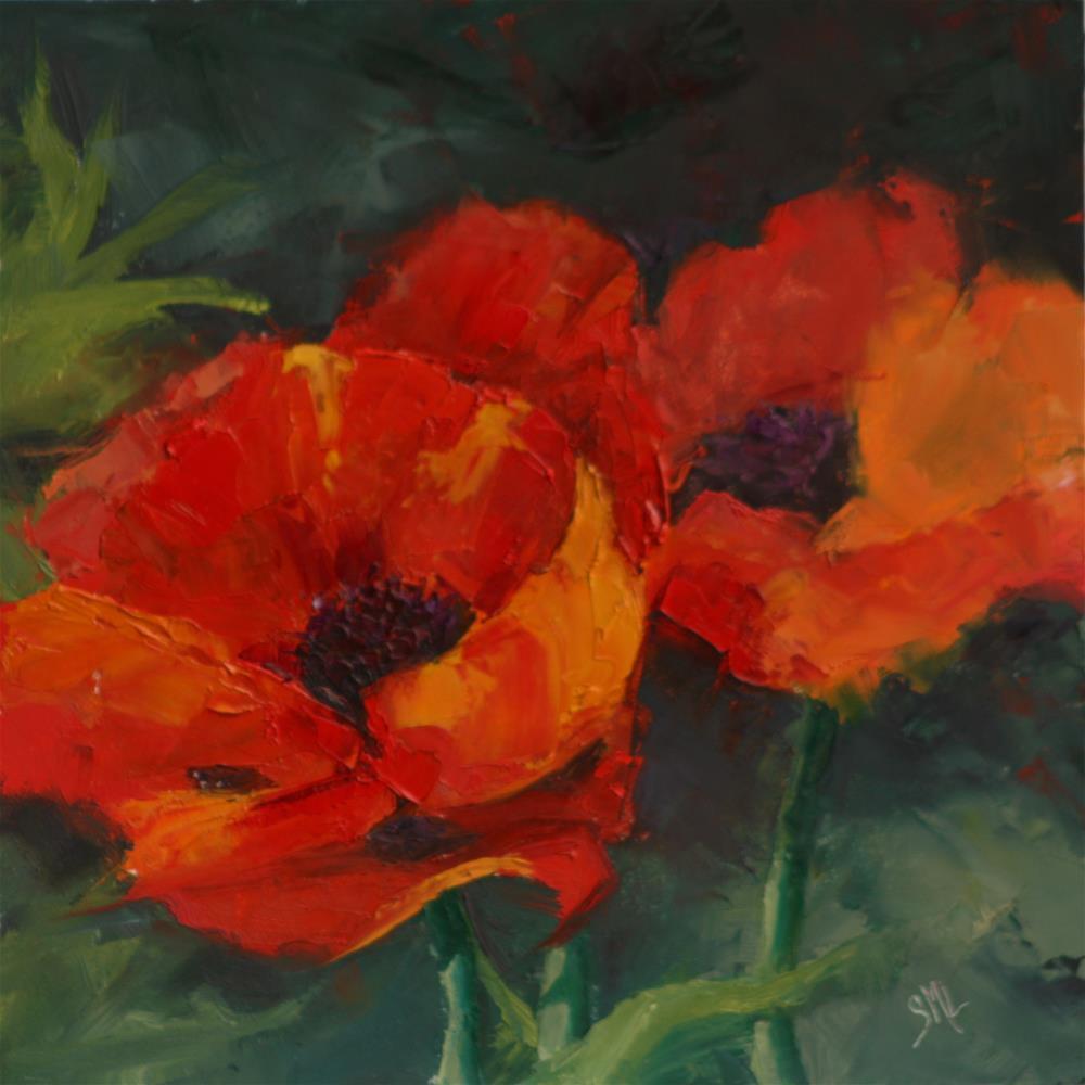 """Poppy Red"" original fine art by Sheila Marie"