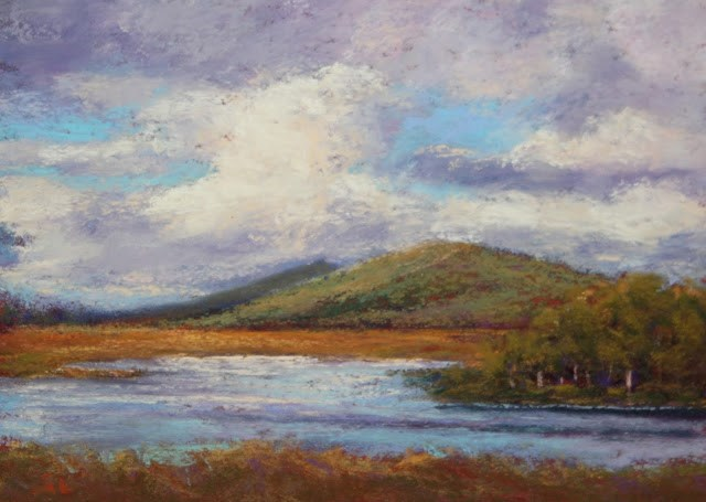 """""""Cloudy, Blustery Day"""" original fine art by Sharon Lewis"""