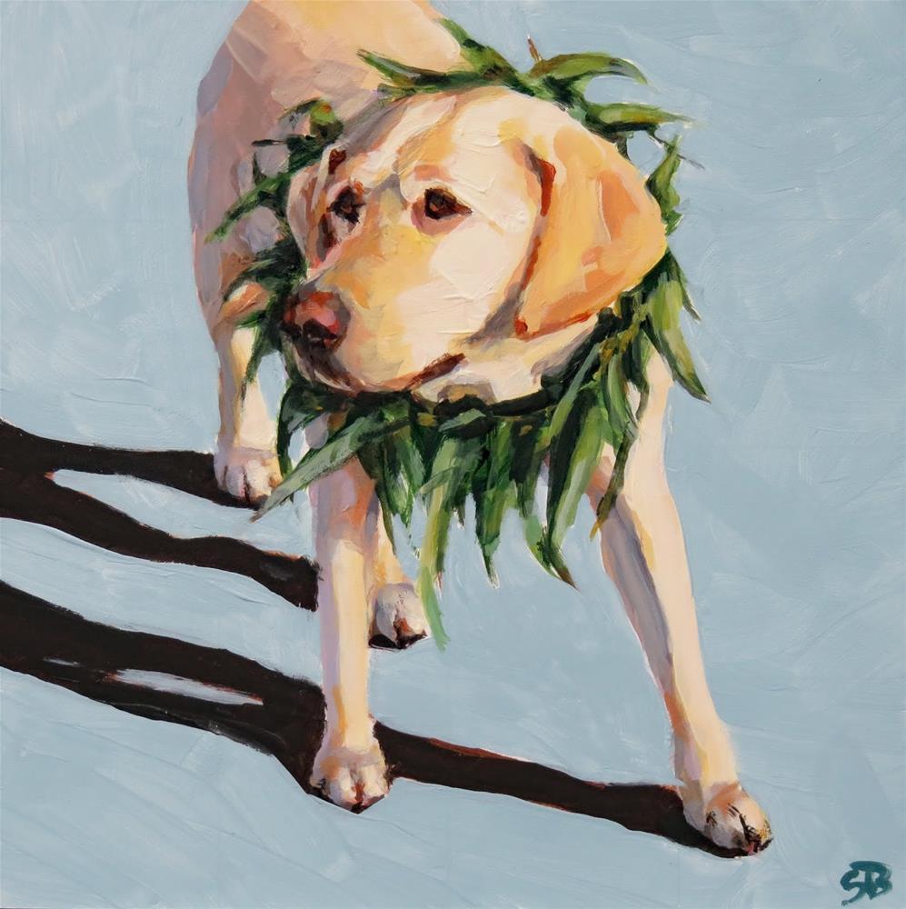 """Hula Dog"" original fine art by Shari Buelt"