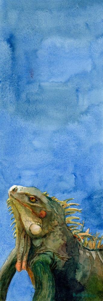 """Watercolor: Got My Third Eye on You"" original fine art by Belinda Del Pesco"