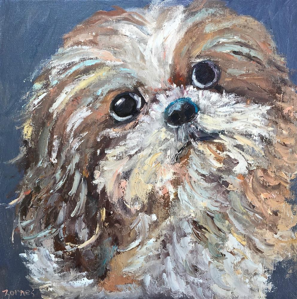 """Portrait of Lola"" original fine art by Liz Zornes"