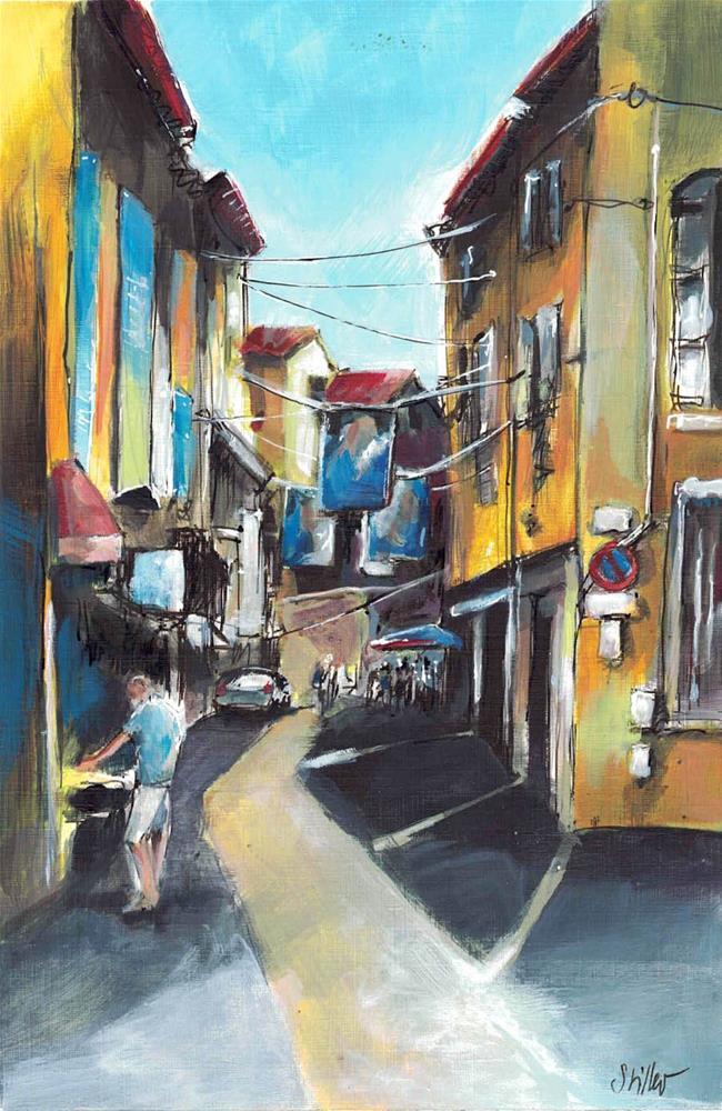 """""""3254 Apt Street Scene"""" original fine art by Dietmar Stiller"""