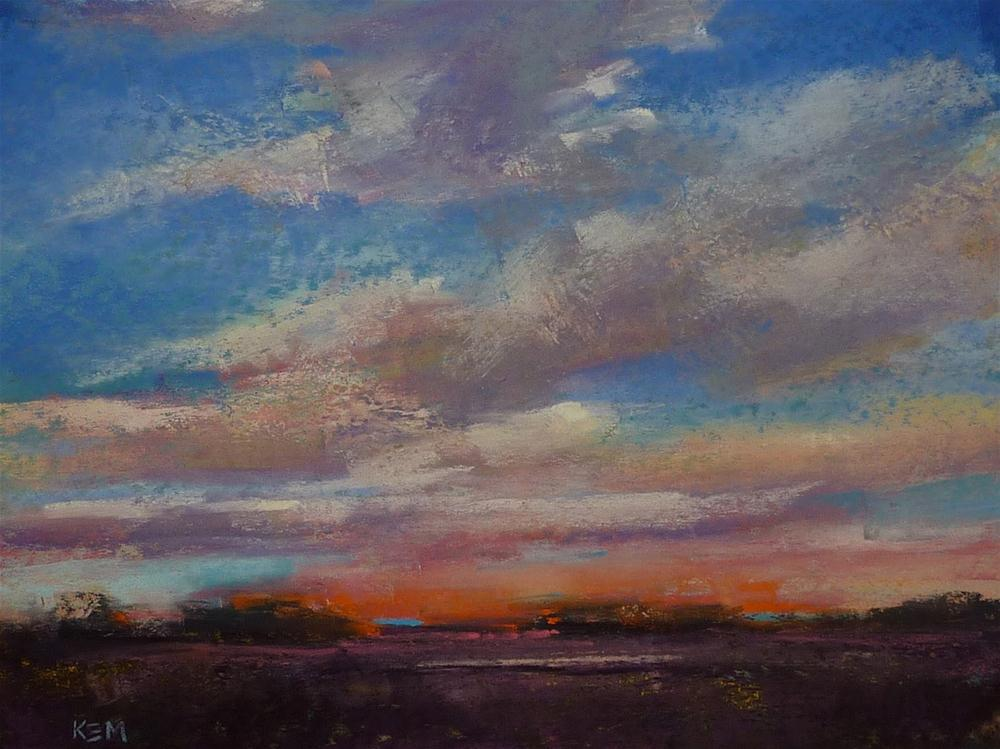 """Composing a Sky Painting: Before and After"" original fine art by Karen Margulis"
