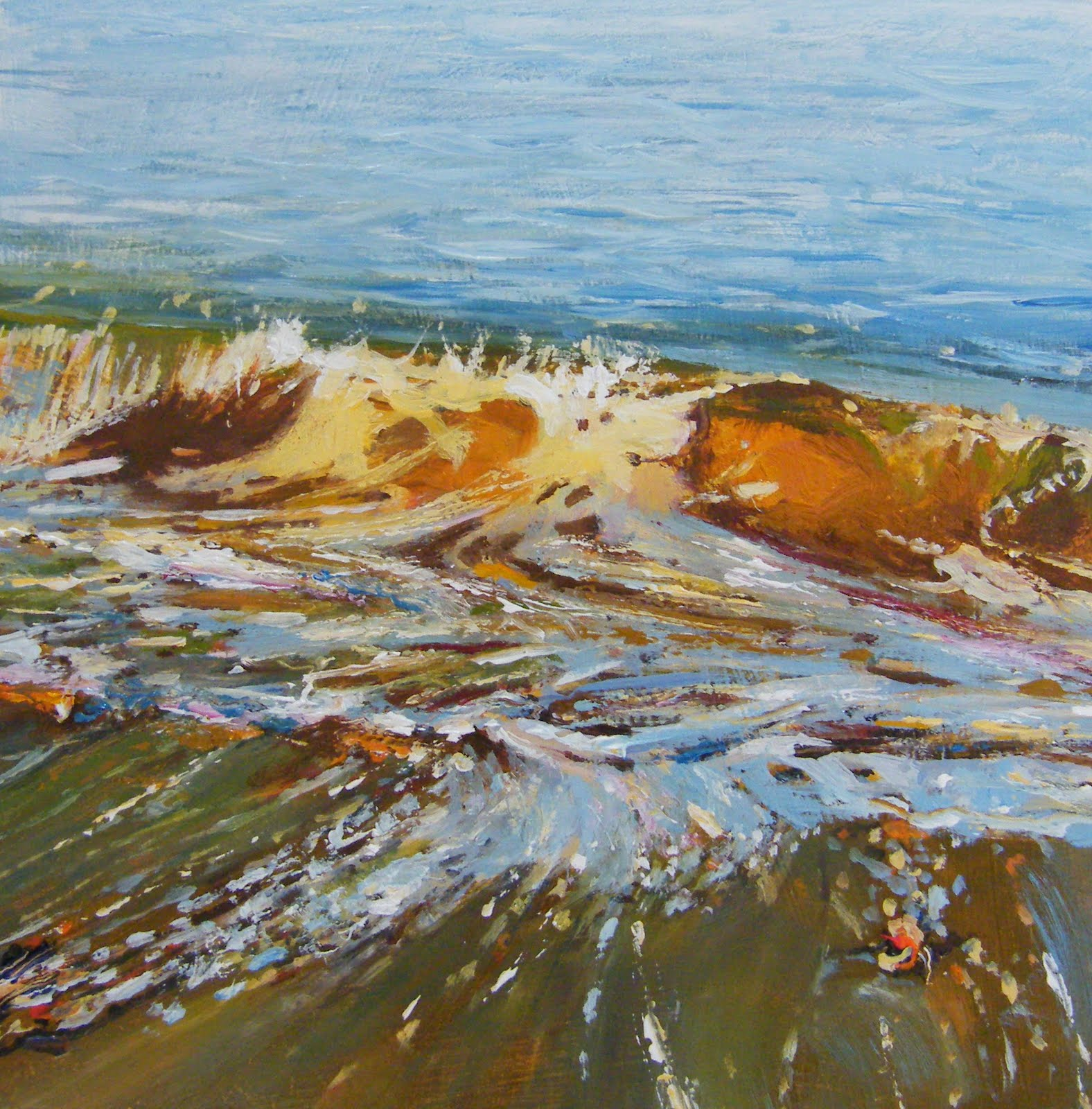 """Vane Tempest Beach 2"" original fine art by Ken Devine"