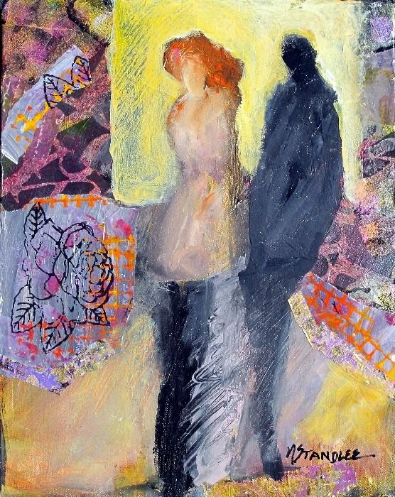 """Somewhere on Round Mountain 13044"" original fine art by Nancy Standlee"