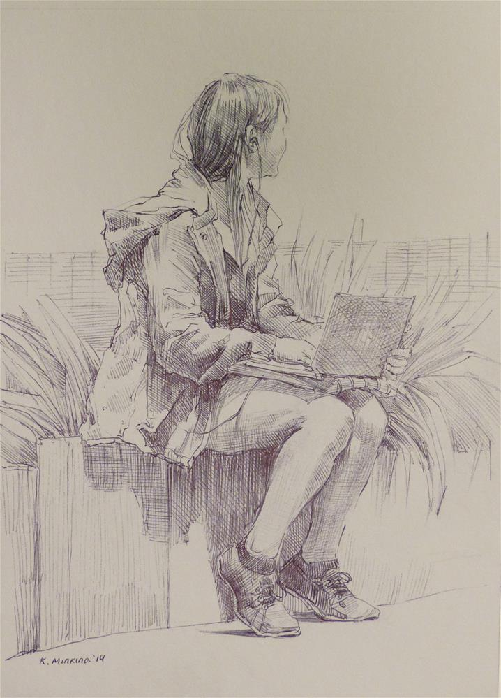 """500Faces-166"" original fine art by Katya Minkina"