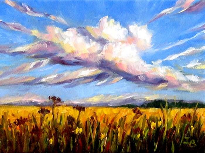 """""""End of Summer"""" original fine art by Irina Beskina"""