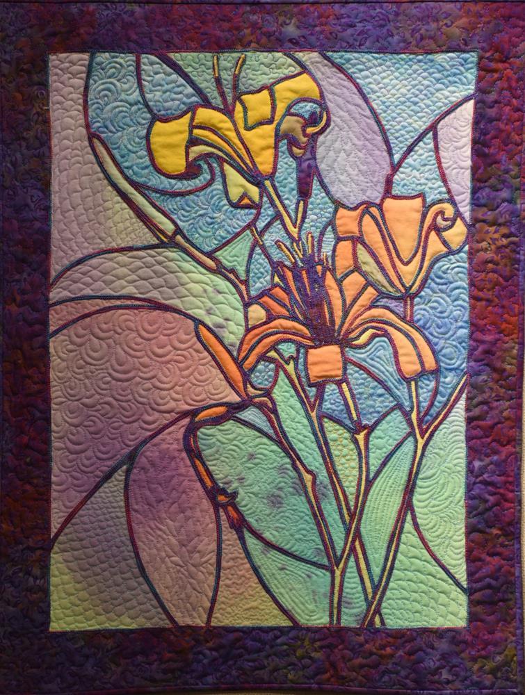 """""""Day Lilies"""" original fine art by Joan Reive"""