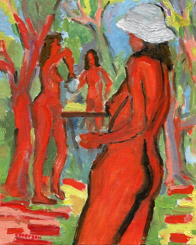 """""""Table Tennis"""" original fine art by Stanley Epperson"""