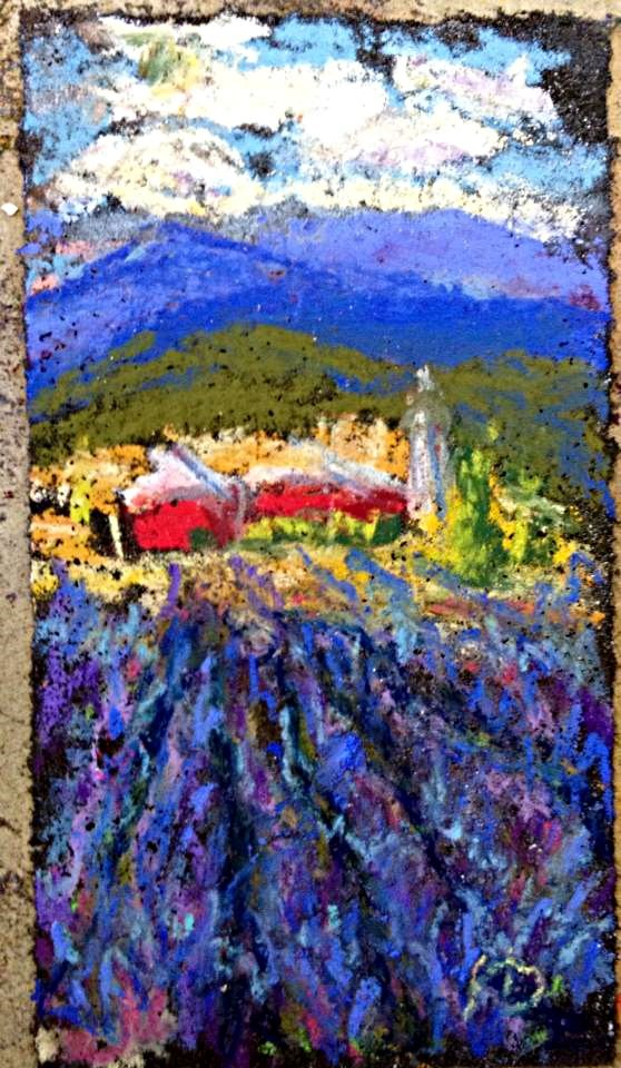 """Lavender Fields Redux"" original fine art by Kristen Dukat"