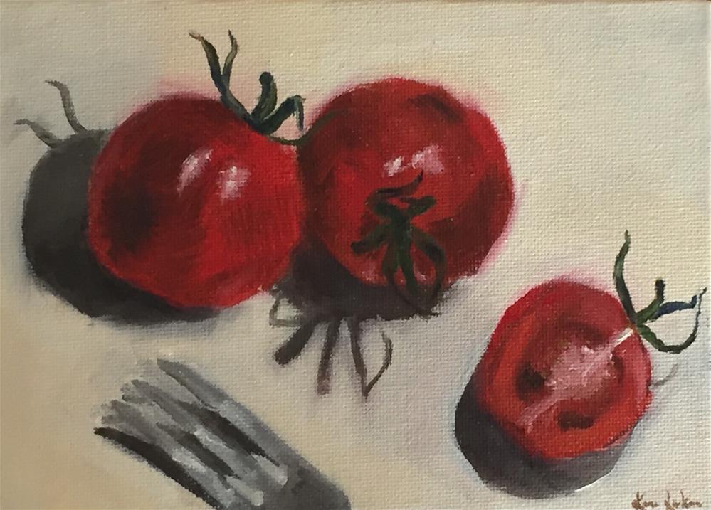 """Plums!"" original fine art by Karen Laken"