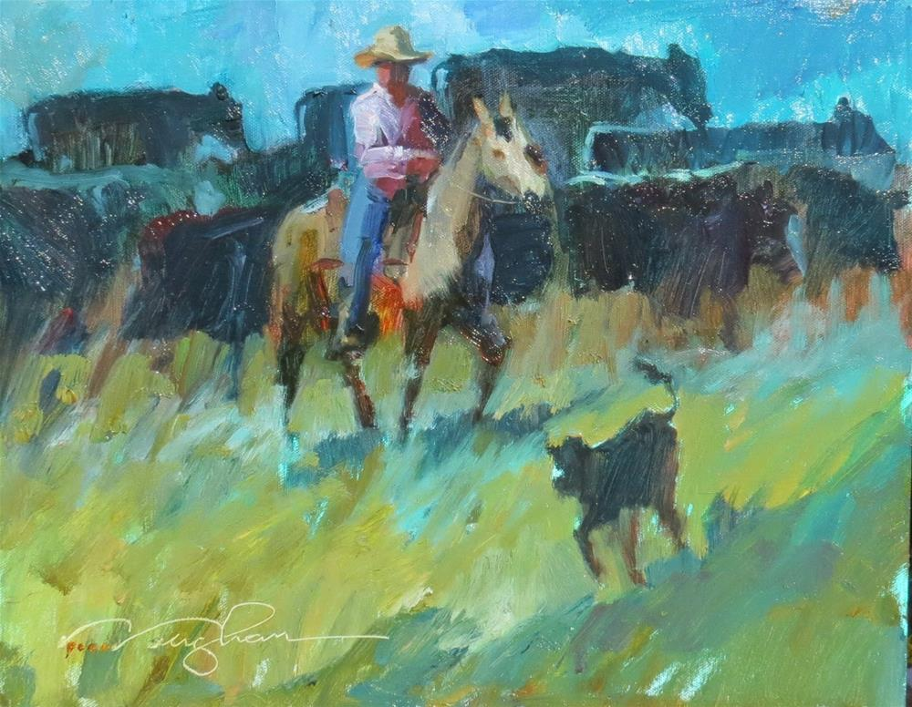 """""""Cowgirl Up! QUICK DRAW"""" original fine art by V.... Vaughan"""
