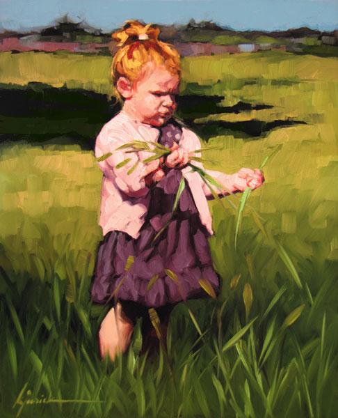 """Moving Ahead...."" original fine art by Karin Jurick"