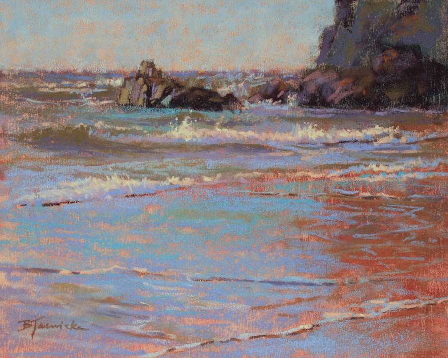 """Rocks and Ocean Study 1"" original fine art by Barbara Jaenicke"