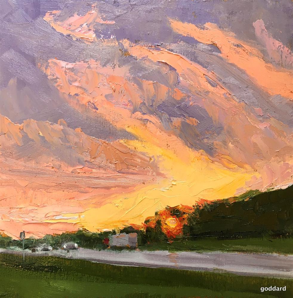 """Road Trip Sunset"" original fine art by Shari Goddard Shambaugh"