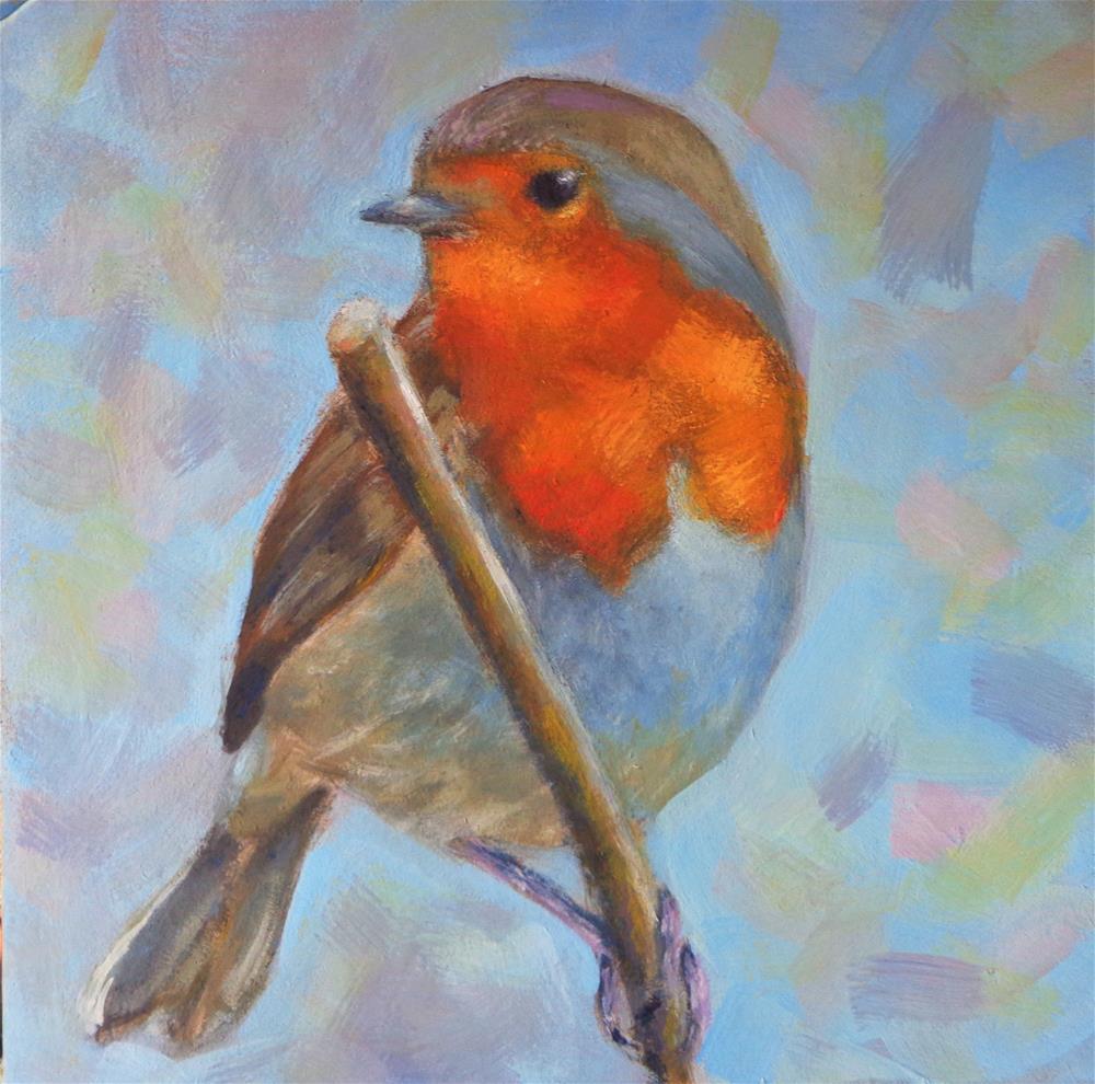 """Robin Bird"" original fine art by Maria Z."