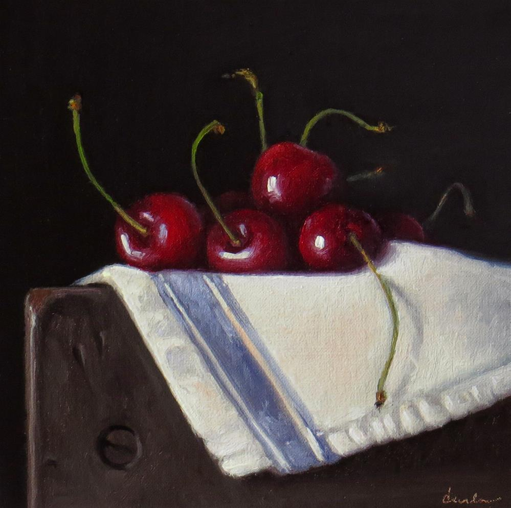 """Still Life with Cherries"" original fine art by Darla McDowell"
