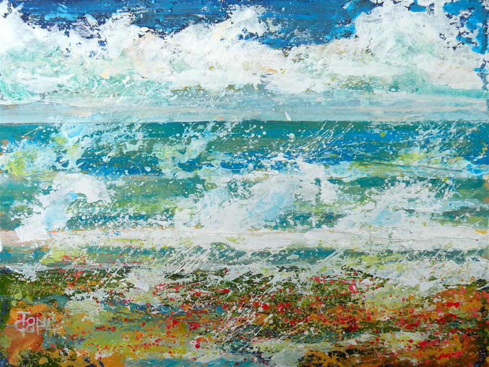"""Crashing Waves"" original fine art by Toni Goffe"