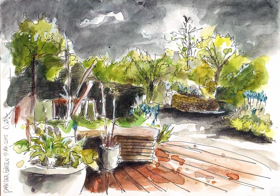 """1370 Park of Gardens"" original fine art by Dietmar Stiller"
