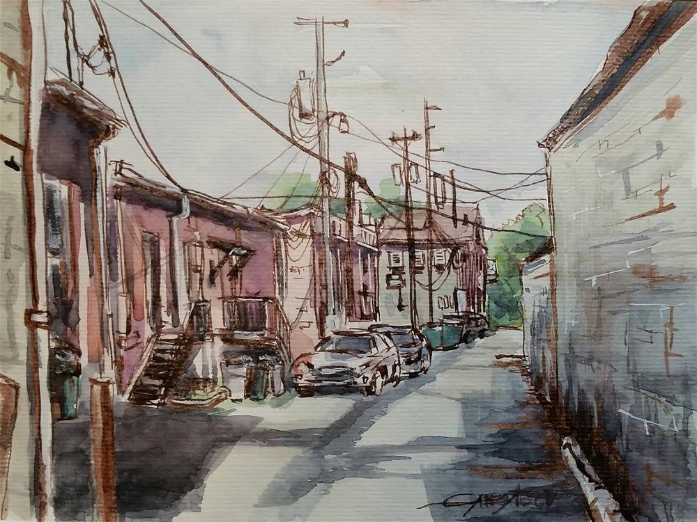 """City Backstage"" original fine art by Gabriella DeLamater"