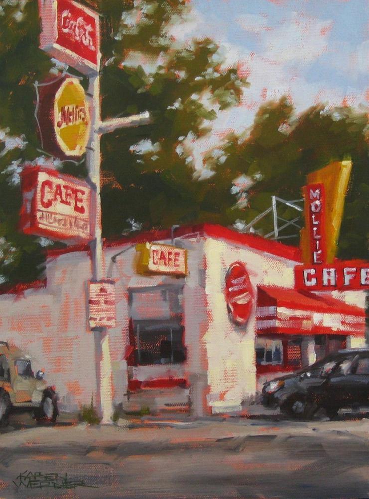 """""""Can't Miss Mollie's"""" original fine art by Karen Werner"""
