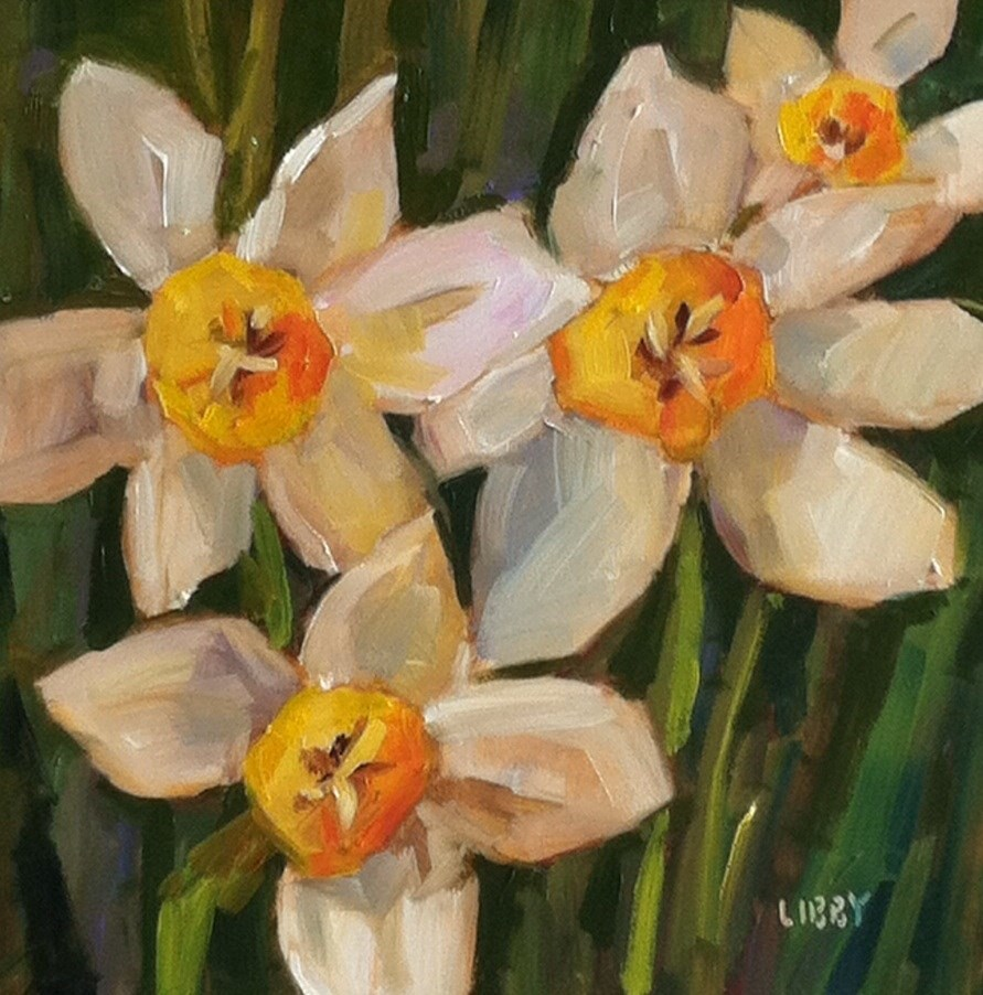 """""""Sunny Faces"""" original fine art by Libby Anderson"""