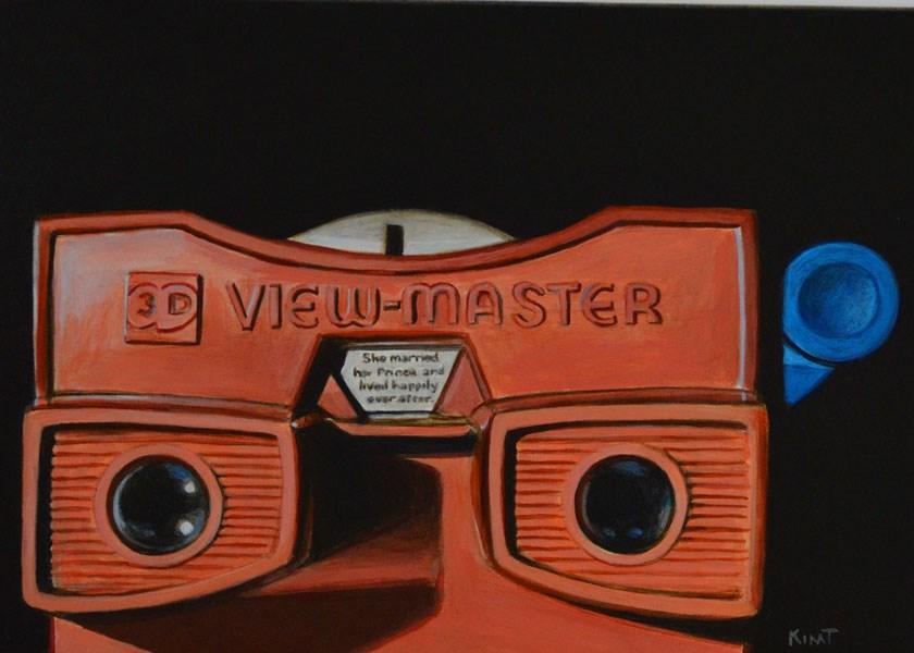 """My Red Viewmaster"" original fine art by Kim Testone"