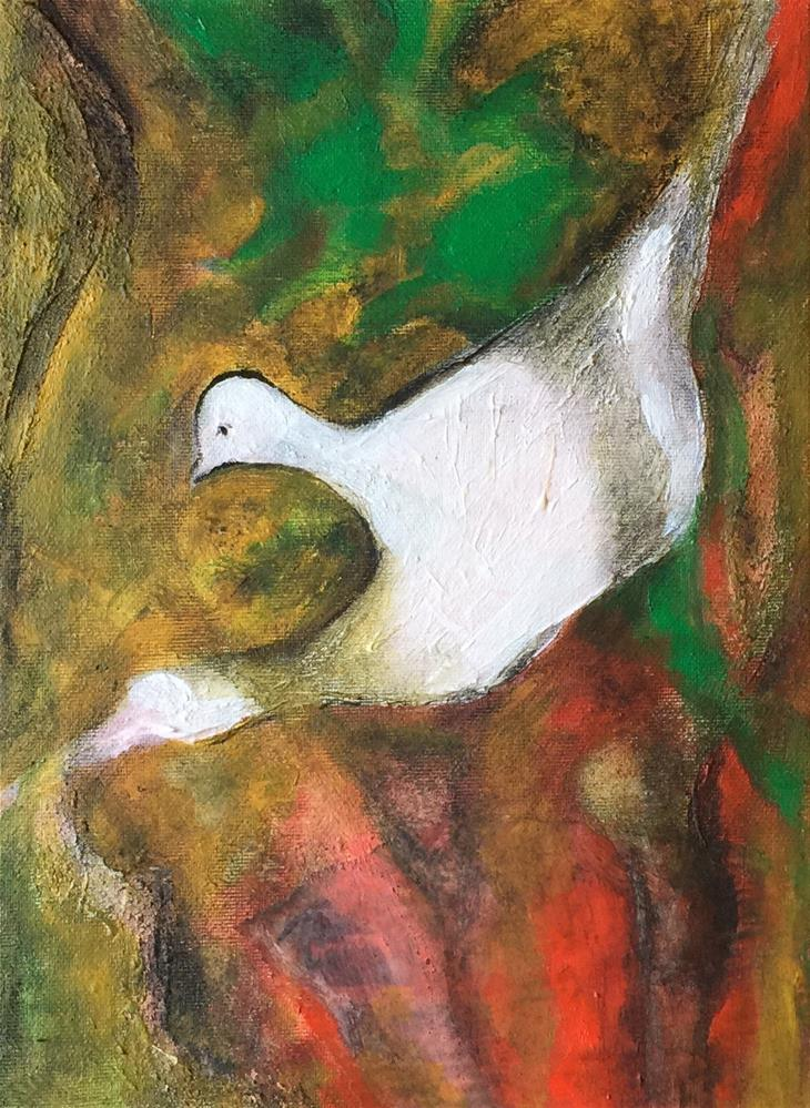 """Bird"" original fine art by Monica Pinotti"