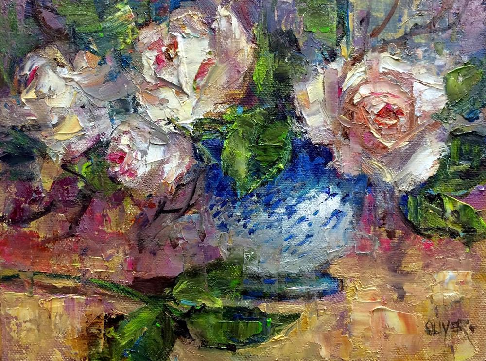 """""""- Roses #2   Plus Picasso and the Lyrical Line"""" original fine art by Julie Ford Oliver"""