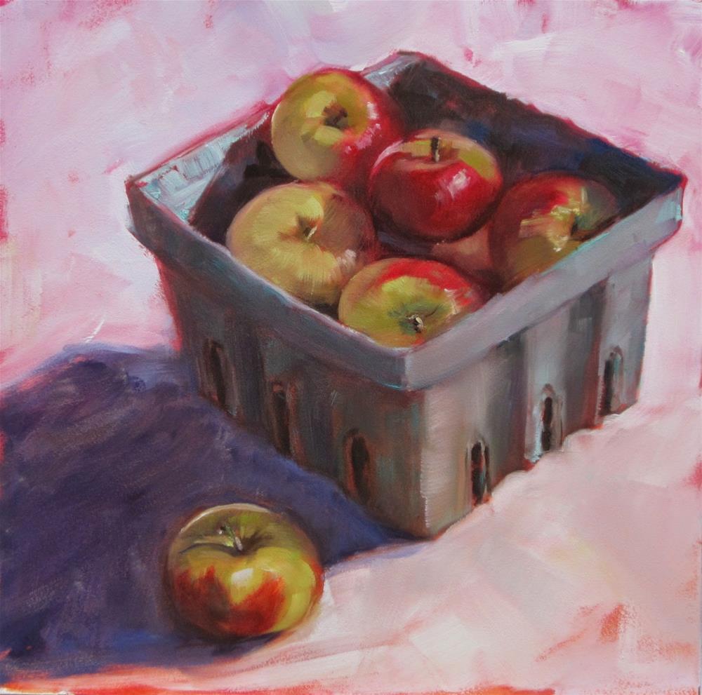 """Little 'lady organics' from Whole Foods"" original fine art by Sandy Haynes"